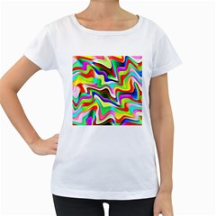 Irritation Colorful Dream Women s Loose Fit T Shirt (white)