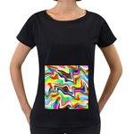 Irritation Colorful Dream Women s Loose-Fit T-Shirt (Black) Front