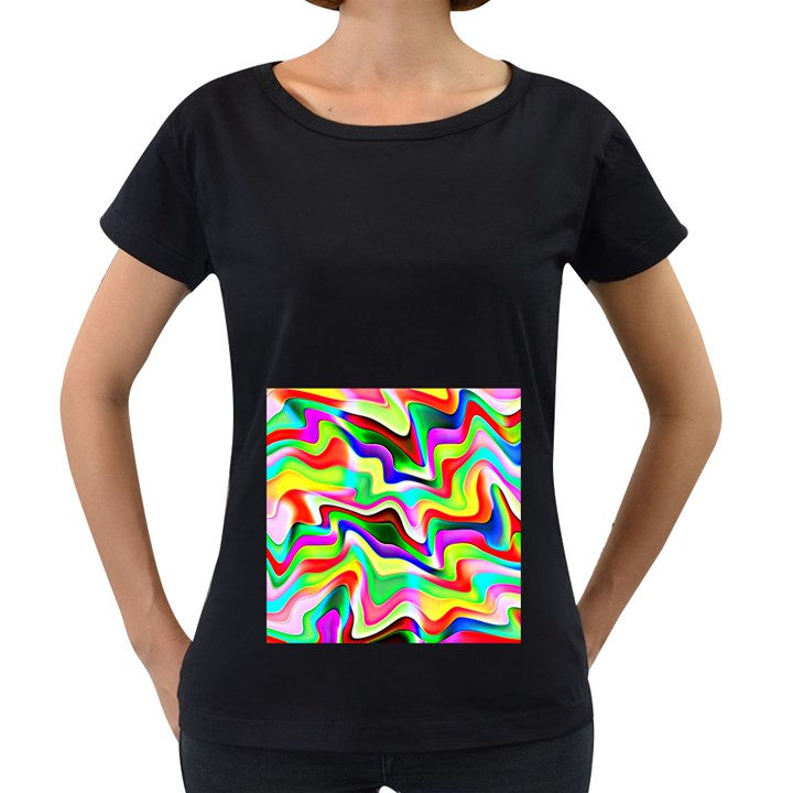 Irritation Colorful Dream Women s Loose-Fit T-Shirt (Black)