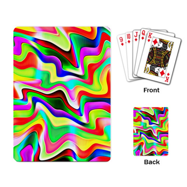 Irritation Colorful Dream Playing Card