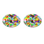 Irritation Colorful Dream Cufflinks (Oval) Front