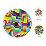Irritation Colorful Dream Playing Cards (Round)  Front