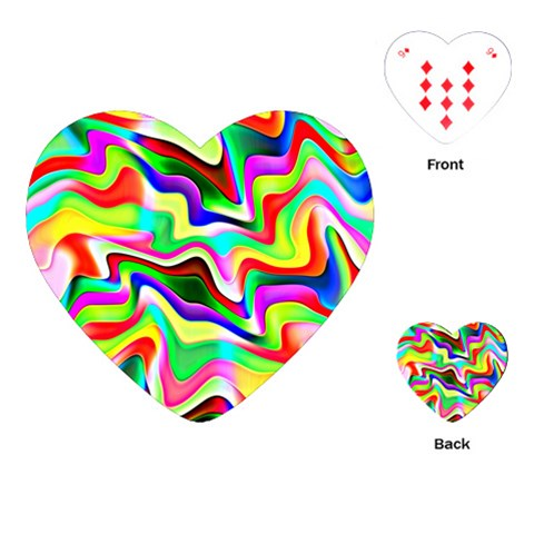 Irritation Colorful Dream Playing Cards (Heart)