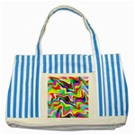 Irritation Colorful Dream Striped Blue Tote Bag Front