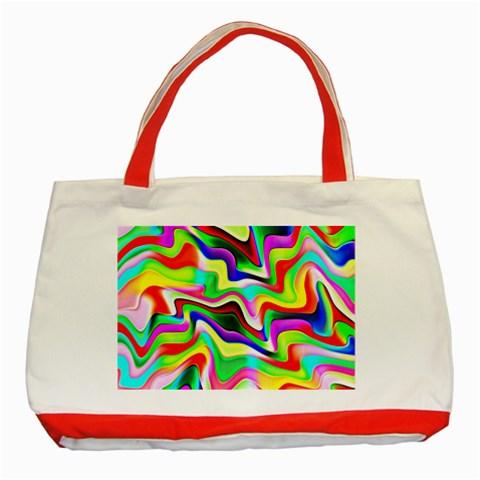 Irritation Colorful Dream Classic Tote Bag (Red)