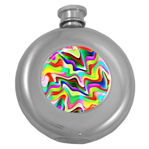 Irritation Colorful Dream Round Hip Flask (5 oz)