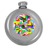 Irritation Colorful Dream Round Hip Flask (5 oz) Front