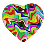 Irritation Colorful Dream Heart Ornament (2 Sides) Front