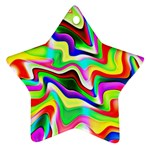 Irritation Colorful Dream Star Ornament (Two Sides)  Back