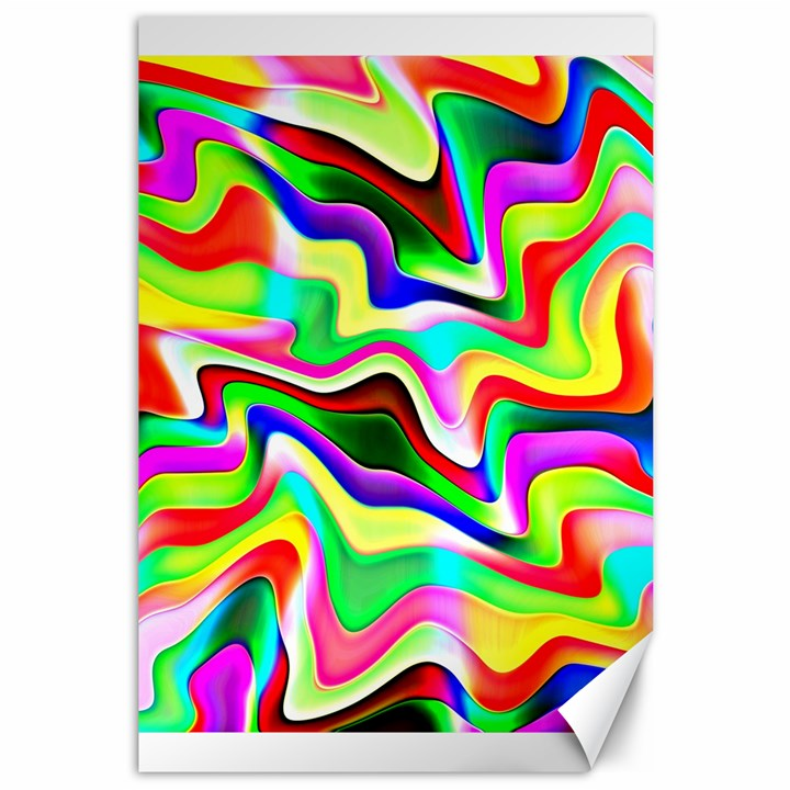 Irritation Colorful Dream Canvas 12  x 18