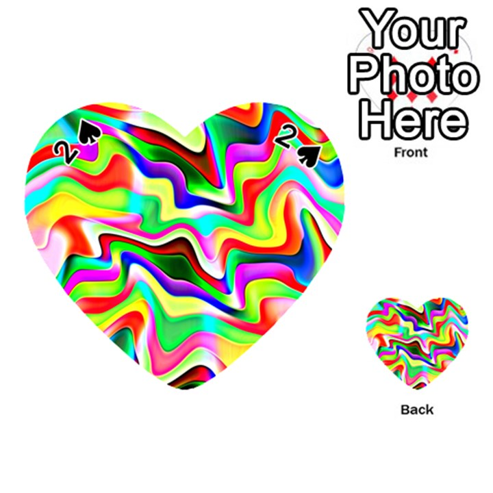 Irritation Colorful Dream Playing Cards 54 (Heart)