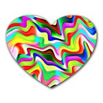 Irritation Colorful Dream Heart Mousepads Front