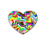 Irritation Colorful Dream Heart Coaster (4 pack)  Front