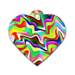 Irritation Colorful Dream Dog Tag Heart (One Side) Front