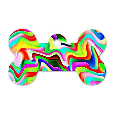 Irritation Colorful Dream Dog Tag Bone (One Side)