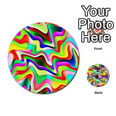 Irritation Colorful Dream Multi Purpose Cards (round)
