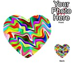 Irritation Colorful Dream Multi-purpose Cards (Heart)  Front 24