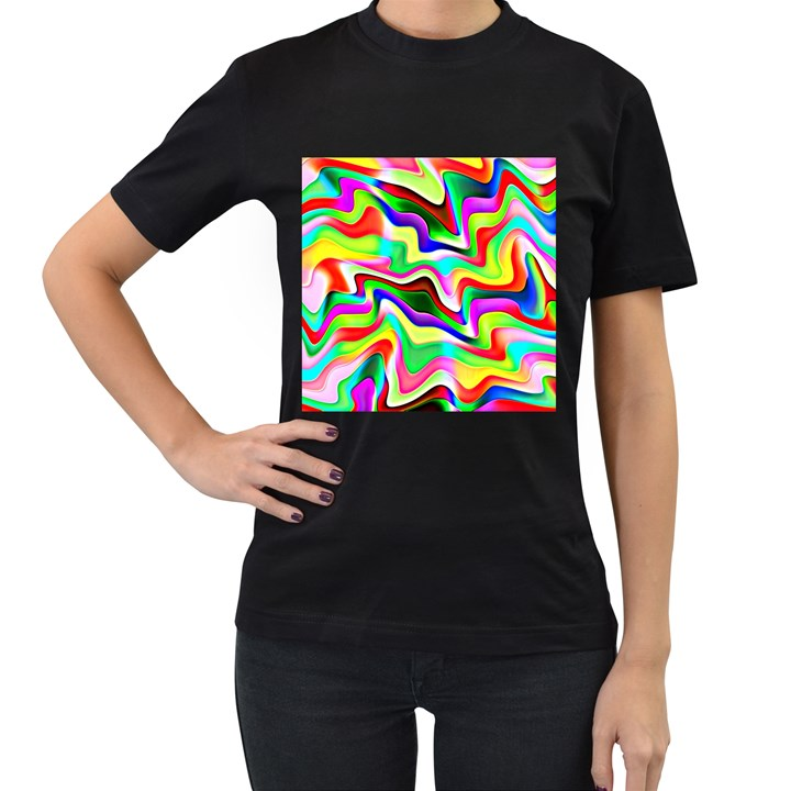 Irritation Colorful Dream Women s T-Shirt (Black)