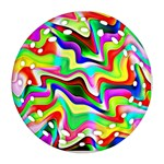 Irritation Colorful Dream Round Filigree Ornament (2Side) Back