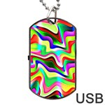 Irritation Colorful Dream Dog Tag USB Flash (Two Sides)  Front