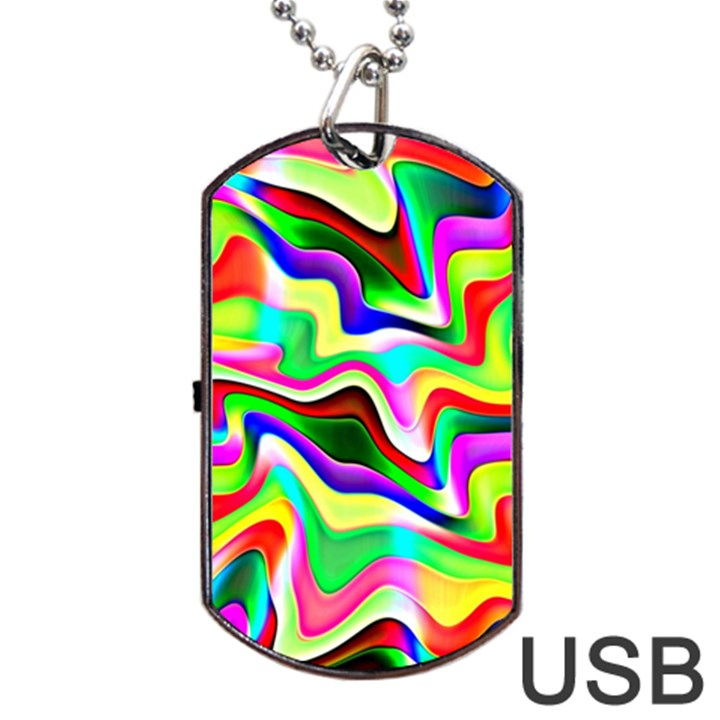Irritation Colorful Dream Dog Tag USB Flash (Two Sides)
