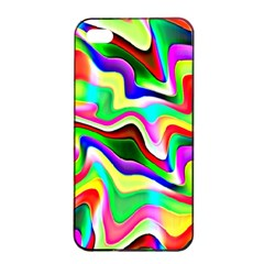 Irritation Colorful Dream Apple iPhone 4/4s Seamless Case (Black)