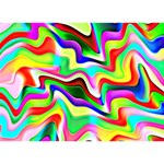 Irritation Colorful Dream Peace Sign 3D Greeting Card (7x5) Back