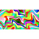 Irritation Colorful Dream Happy New Year 3D Greeting Card (8x4) Front