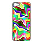 Irritation Colorful Dream Apple iPhone 5 Case (Silver) Front