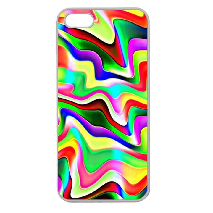 Irritation Colorful Dream Apple Seamless iPhone 5 Case (Clear)