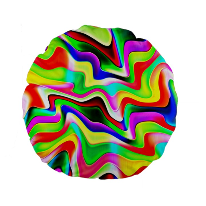 Irritation Colorful Dream Standard 15  Premium Round Cushions