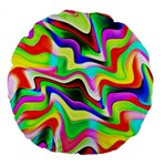 Irritation Colorful Dream Large 18  Premium Round Cushions Back