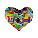 Irritation Colorful Dream Standard 16  Premium Heart Shape Cushions Front