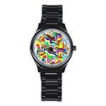 Irritation Colorful Dream Stainless Steel Round Watch Front