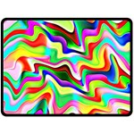 Irritation Colorful Dream Double Sided Fleece Blanket (Large)  80 x60 Blanket Back