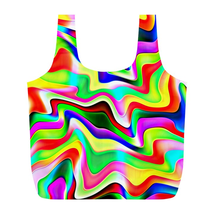 Irritation Colorful Dream Full Print Recycle Bags (L)