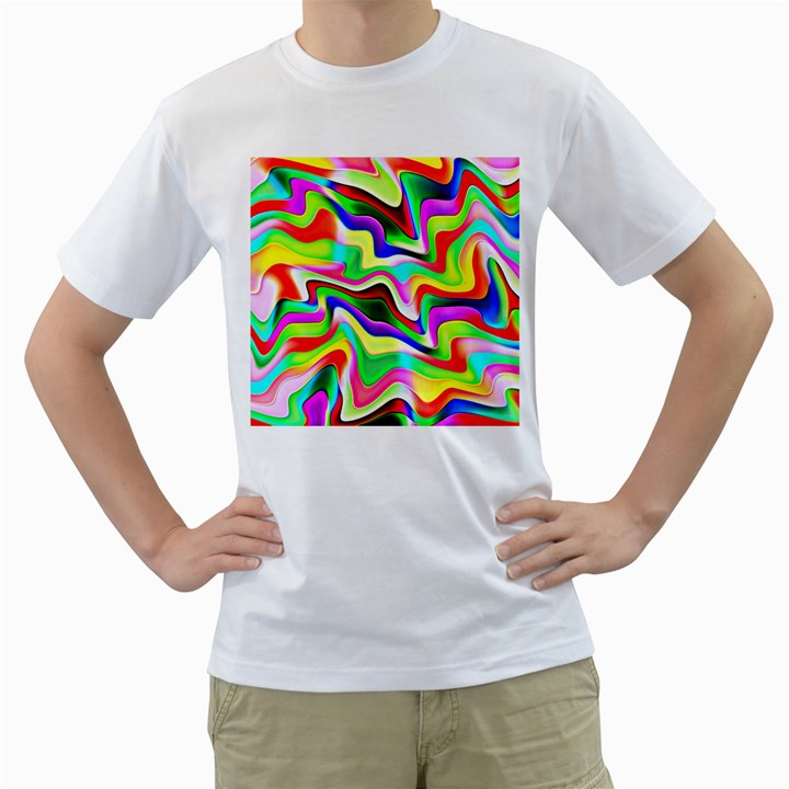 Irritation Colorful Dream Men s T-Shirt (White)