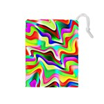 Irritation Colorful Dream Drawstring Pouches (Medium)  Front