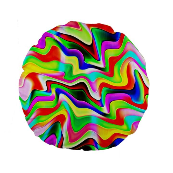 Irritation Colorful Dream Standard 15  Premium Flano Round Cushions