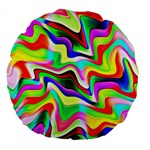Irritation Colorful Dream Large 18  Premium Flano Round Cushions Front