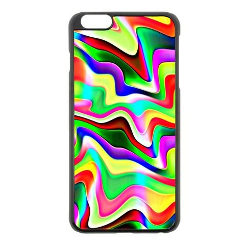 Irritation Colorful Dream Apple iPhone 6 Plus/6S Plus Black Enamel Case