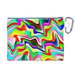 Irritation Colorful Dream Canvas Cosmetic Bag (XL) Back
