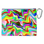 Irritation Colorful Dream Canvas Cosmetic Bag (XXL) Back