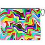 Irritation Colorful Dream Canvas Cosmetic Bag (XXXL) Back