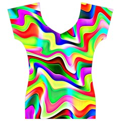 Irritation Colorful Dream Women s V-Neck Cap Sleeve Top