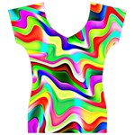 Irritation Colorful Dream Women s V-Neck Cap Sleeve Top Front