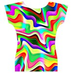 Irritation Colorful Dream Women s V-Neck Cap Sleeve Top Back