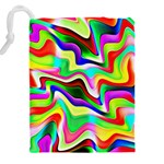 Irritation Colorful Dream Drawstring Pouches (XXL) Back