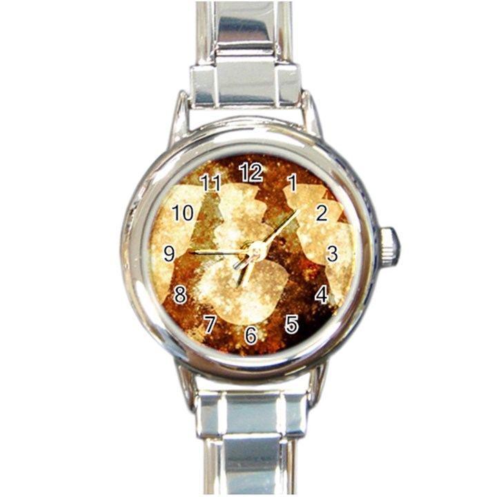 Sparkling Lights Round Italian Charm Watch