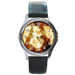 Sparkling Lights Round Metal Watch Front